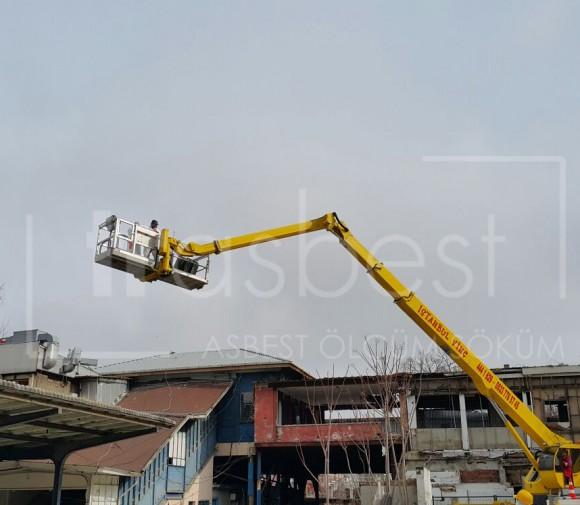 Asbestli Tren İstasyonu Çatısı Sökümü